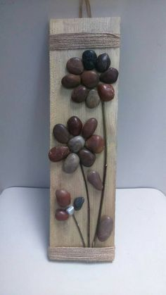 Flowers Stone Art , Pebble Art, Stone Art, Painting rocks, Home Decor, Gifts, Wall decor, Nature Art