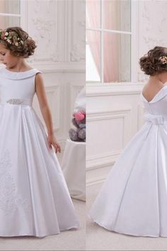 Cheap communion dresses, Buy Quality first communion dresses directly from China cheap flower girl dresses Suppliers: 2017 New Cheap Flower Girl Dresses For A Line Satin Princess Pageant Party Gowns First Communion Dress For Child Teen Custom Princess Flower Girl Dresses, Cheap Flower Girl Dresses, Wedding Flower Girl Dresses, Little Girl Dresses, Dresses For Teens, Wedding Party Dresses, Girls Dresses, Bridesmaid Dresses, Flower Girls