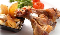 Receta de Alitas de pato con patatas y mermelada de naranja