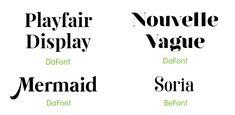 Best Invitation Fonts for Wedding Invites, Events, Birthdays, and Invitation Fonts, Invitation Design, Sans Serif Fonts, Script, Mermaids, Little Mermaids
