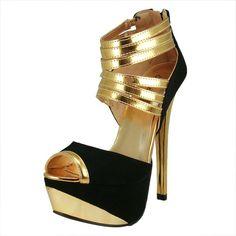 Amazon: Qupid Women's Count32 Black Nubuck Strappy... - VetheBox.com - Fashion Jewelry,handbags,clothing  dresses,girl,fashion share by vthebox.com