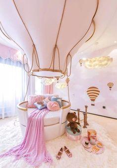 Cute Bedroom Ideas, Cute Room Decor, Girl Bedroom Designs, Room Ideas Bedroom, Baby Bedroom, Awesome Bedrooms, Bedroom Themes, Cool Rooms, Girls Bedroom