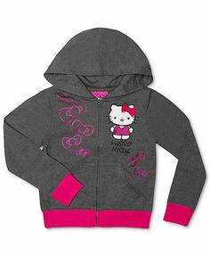#hellokitty grey graphic hoodie