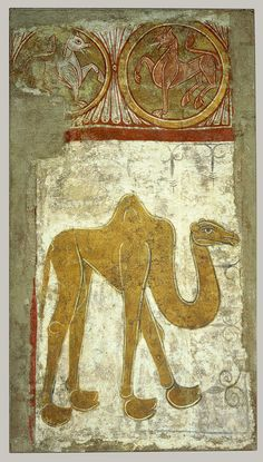 Wall Painting of a Camel [From the hermitage of San Baudelio de Berlanga] (61.219) | Heilbrunn Timeline of Art History | The Metropolitan Museum of Art