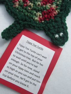 Turtle Christmas Ornament by crochetedbycharlene on Etsy, $7.00
