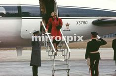 February 19 1986 Princess Diana arrives in Walsall, West Midlands