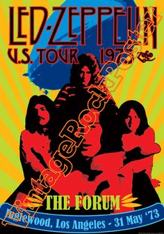 Cod. 268  LED ZEPPELIN  The Forum  Inglewood  Los Angeles  (California) Usa  31 May 1973