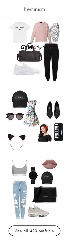 """""""Feminism"""" by wearyourdissent ❤ liked on Polyvore featuring Diesel, NIKE, Ideology, Yves Saint Laurent, Illesteva, Givenchy, men's fashion, menswear, Topshop and CLUSE"""