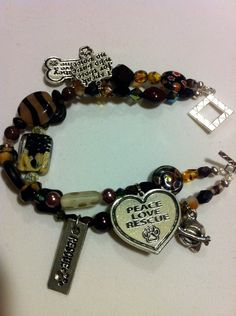Animal Rescue Double Strand Beaded Bracelet  by WhimsicalMystical, $42.00 | JUST GORGEOUS! | Rescue Me Ohio fundraiser http://www.etsy.com/shop/WhimsicalMystical