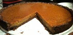 Pumpkin & Chocolate pie- pumpkin filling, chocolate crust. WINNER!!