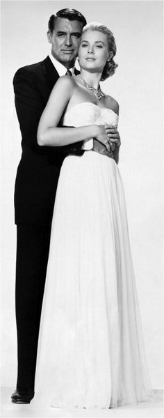 Cary Grant & Grace Kelly Elegance defined. i would ware this one my wedding day is simple but so classy and elligant