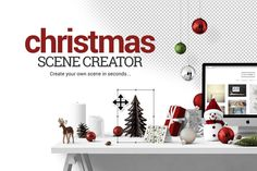 Check out Christmas Scene Creator by Place.to on Creative Market