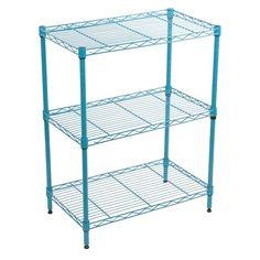 3-Tier Adjustable Wire Shelving - Turquoise - Room Essentials™ : Target