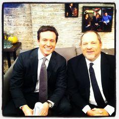 Jeff Glor and Harvey Weinstein