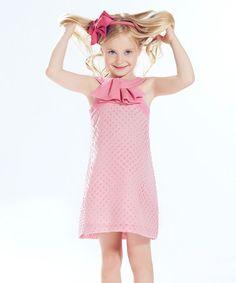 Pink Ruffle Silk-Blend Yoke Dress - on #zulily! #zulilyfinds