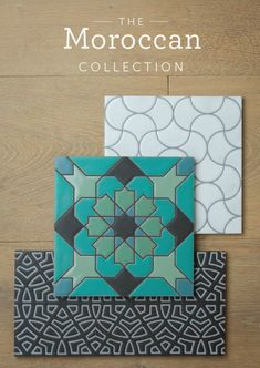 Moroccan Tile, Ceramic, Bule and Teal