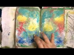 You have to watch this start to finish art journal spread... it's crazy-intense and the end result is miles from this little preview, but really fun looking! ---   Surface Treatment Workshop Art Journal Page