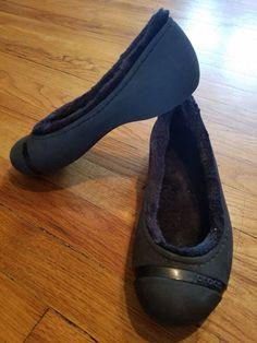 3a113ce4ea6c Women s Crocs Nanook Black Faux Fur Lined Flats US Size 7 EXCELLENT  fashion   clothing