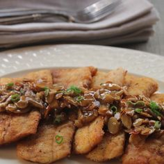Trout Amandine With Creole Meuniere Sauce