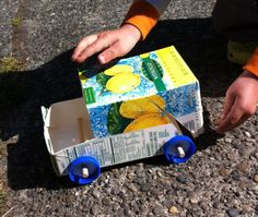 Make your own garbage truck with recyclables!