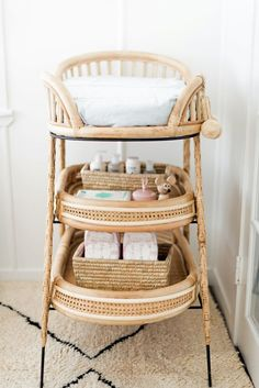 baby girl nursery room ideas 177681147786011042 - The changing table is from Sacred Bundle, a very cool Australian brand sourcing unique global fair-trade finds. Boho Nursery, Nursery Neutral, Nursery Room, Girl Nursery, Nursery Decor, Woodland Nursery, Baby Bedroom, Baby Room Decor, Kids Bedroom