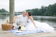 1 year anniversary date, with wedding dress and wedding cake! I love this idea!