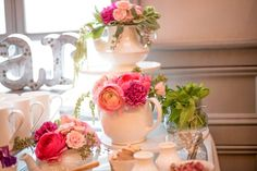 Gorgeous garden tea party bridal shower party! See more party planning ideas at CatchMyParty.com!