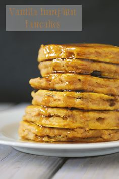 Vanilla Pumpkin Pancakes... I'm going to try this  but I'm going to use a gluten free flour and stevia instead of sugar. Should be yummy! Sweet Breakfast, Breakfast Dishes, Breakfast Recipes, Seymour, Pumpkin Pancakes, Gluten Free Flour, Halloween, Pumpkin Recipes, Recipe Of The Day