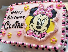 Minnie Mouse Cake w/ Frozen Buttercream Transfer