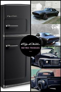 The perfect man cave appliance... Murdered out Big Chill retro fridge inspired by your favorite classic cars. Grab yours today!