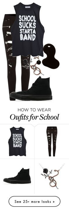 """""""YAS"""" by pipermcleandream on Polyvore featuring River Island and Converse"""