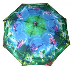 Click on the image to find out this lovely #kids #umbrella printed with dancing #flower #fairies. https://www.rosemarie-schulz.eu/en/kids-umbrellas/446-children-umbrella-fairies-purple.html