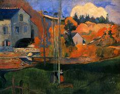 1894 Paul Gauguin Le Moulin David à Pont-Aven Huile sur Toile 73x92 cm Paris, musée d Orsay. Très belle œuvre de Gauguin.