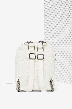 Nasty Gal x Nila Anthony lace backpack