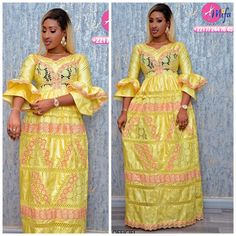 Les modèles tendances Tabaski 2019 27 African Dresses For Kids, African Maxi Dresses, Latest African Fashion Dresses, African Attire, African Outfits, African Lace, African Women, Style Africain, Amai