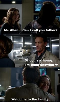 #Snowbarry have to get married ♥ Even Barry's dad is Team Snowbarry!