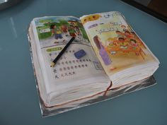 Chinese School Book Cake