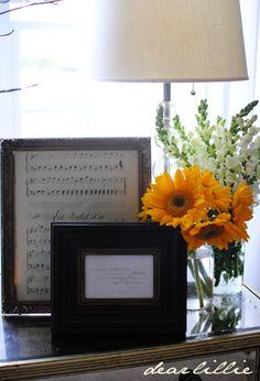 Dear Lillie- framed sheet music
