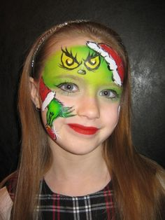 Grinch a Lisa joy young design - Face Painting by Jenn