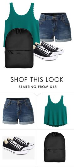 """""""Back to school 7th grade"""" by alonnajenelle on Polyvore featuring LE3NO, Converse, Rains, BackToSchool and 7thgrade"""