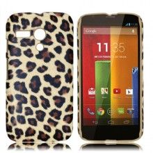 Carcasa Motorola Moto G Hard Case Leopardo Marron  $ 131.72