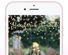 Wedding Geofilter Custom Wedding Snapchat Filter by MarinaSnaps