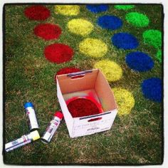 Outdoor Twister. This would be really fun to do in the summer!