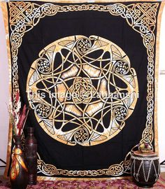 Celtic Tree Of Life Tapestry Wall Hanging Hippie by Labhanshi