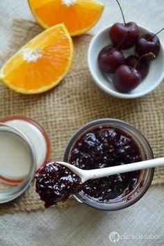Mermelada de cereza, naranja y chia www.pizcadesabor.com