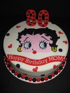 80th betty boop cake