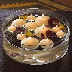 Vase bougie flottante coupelle 20cm, centre de table mariage - Badaboum