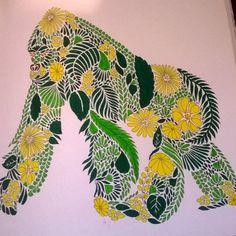 Gorilla From Animal Kingdom Adultcolouring Adultcolouringbooks Colouringforadults Milliemarotta Animalkingdom