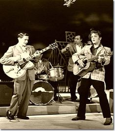 Elvis first appearance on the Ed Sullivan show.  He sang Hound Dog and was instructed to keep hip movements at a minimum.