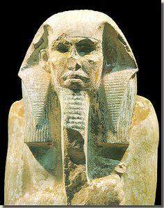 Zitbeeld van farao Djoser, Egyptisch Museum, Caïro